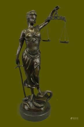 SUPER DEAL Art Sculpture GODDESS Blind Lady Justice Law