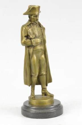 Large Bronze Marble Sculpture of Napoleon Bonaparte -