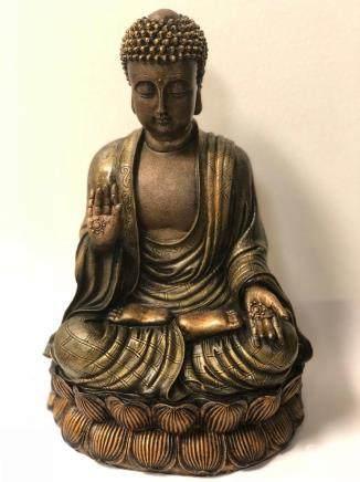 buddha hand sculpture - ANTIQUE BRASS PROTECTION BUDDHA