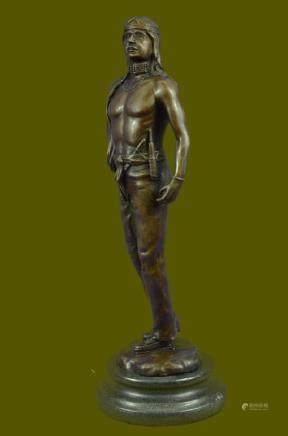 INDIAN CHIEF Bronze Sculpture Statue Art Warrior Spirit