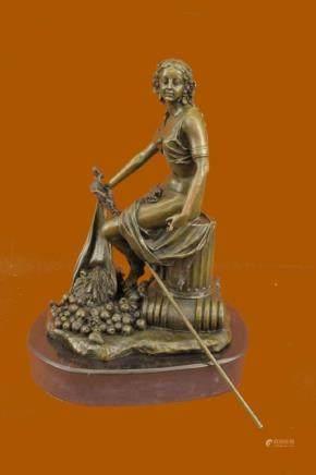 French Art Nouveau Bronze Agriculture Greek Goddess