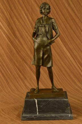 Handmade bronze sculpture Deco Art Teacher School
