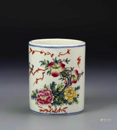 Chinese Famille Rose Brushpot