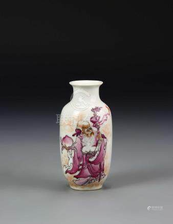 38642Chinese Famille Rose Miniature Vase
