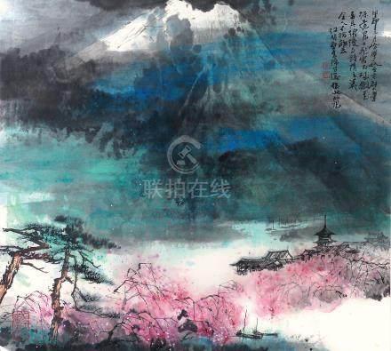 江明賢 富士之春