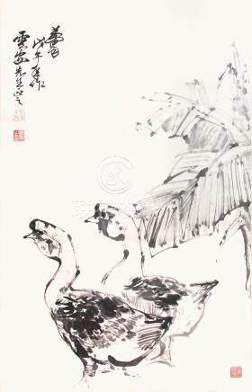 黃胄 雙鵝