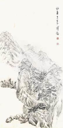 溥心畬 山嵐閣樓