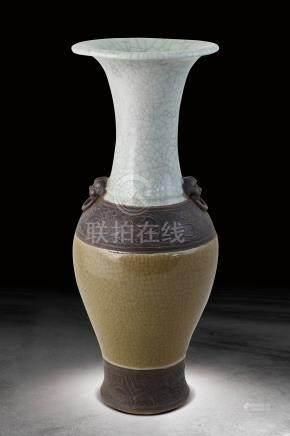 清  哥釉瓶