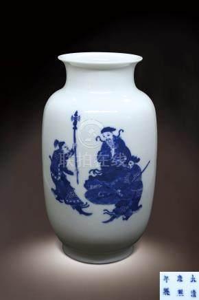 清  青花人物紋瓶