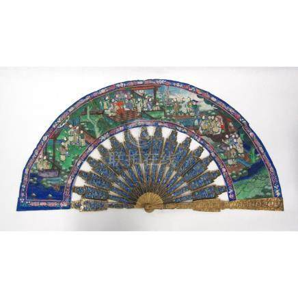 A Canton Painted Fan.