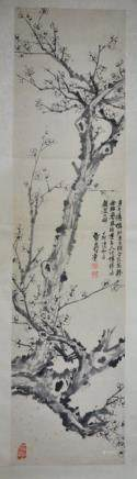 A CHINESE PAINTING OF PLUM BLOSSOM