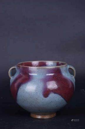 A JUN YAO PURPLE-SPLASH JAR
