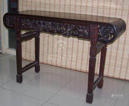Fine Antique Chinese Rosewood Carved Alter Table
