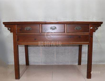 Fine Old Chinese Hardwood Writing Table