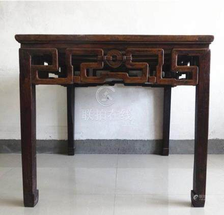 Fine Old Chinese Hardwood 8 Immortals Table