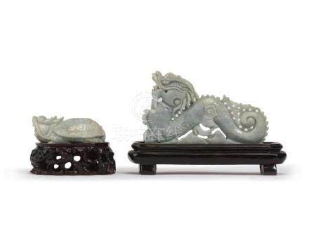 Two Chinese carved jade objects