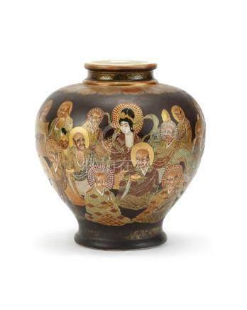 "A Japanese Satsuma ""1000 Faces"" vase"