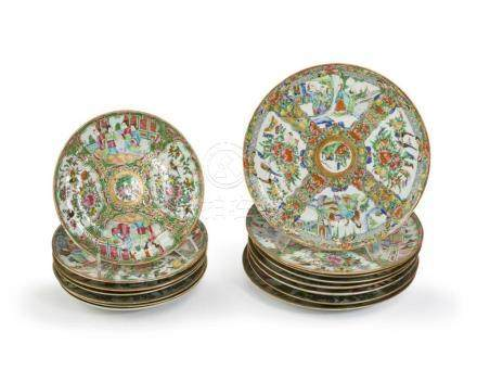 A group of Rose Medallion plates