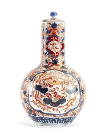 A Japanese Imari lidded jar