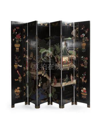 A Chinese coromandel screen