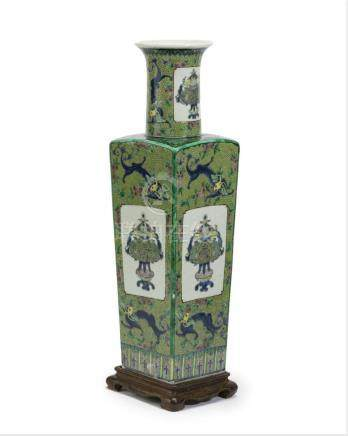 A Chinese green porcelain vase