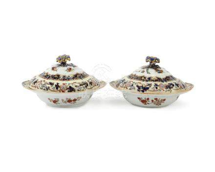 A pair of Mason's Ironstone covered vegetable dishes