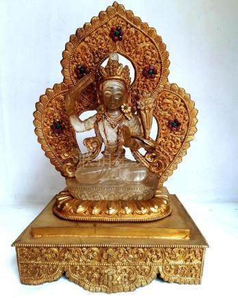 Crystal Manjushree with Gold plated