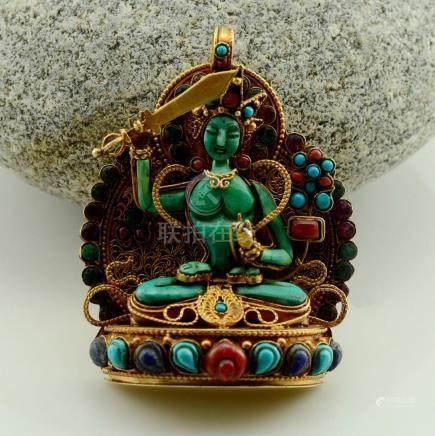 Tibetan Buddhist Ritual Sacred Ghau Prayer Box