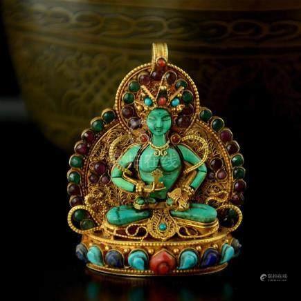 Vajrasattva Buddhist Ritual Sacred Ghau Prayer Box
