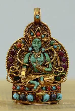 Green Tara Buddhist Ritual Sacred Ghau Prayer Box