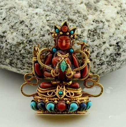 Chenrezig Buddhist Ritual Sacred Ghau Prayer Box