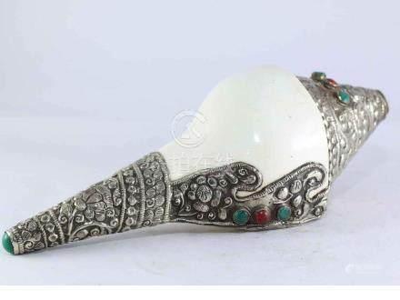 White Metal conch Shell