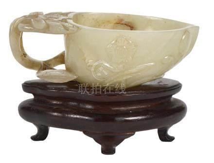 Pale Celadon Jade Libation Cup