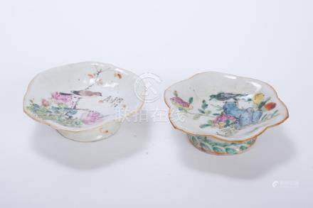 (2) CHINESE PORCELAIN FOOTED DISHES