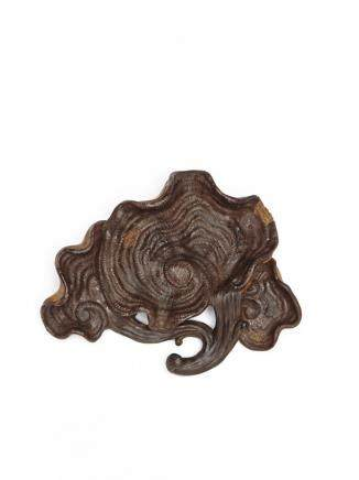 清 紫砂蝸居款靈芝盤