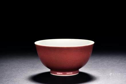 清 豇豆紅小碗