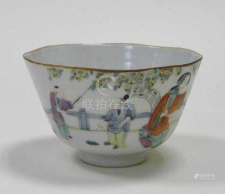 Schale chinesisches PorzellanChina, 19. Jahrhundert. Feinwandige Tee-Schale mit konischem, leicht