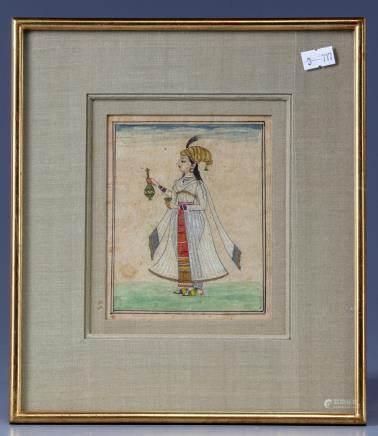 A portrait of a Mughal princess