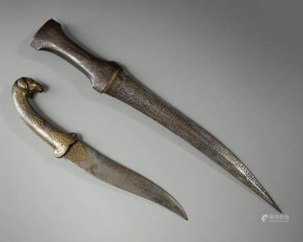 Two Islamic daggers