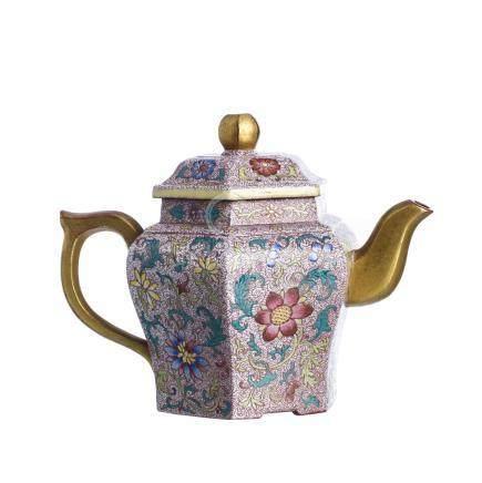 Yixing faceted teapot, Minguo