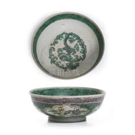 Bowl in stoneware, Guangxu.