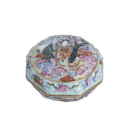 Beauty box in chinese porcelain, Tongzhi