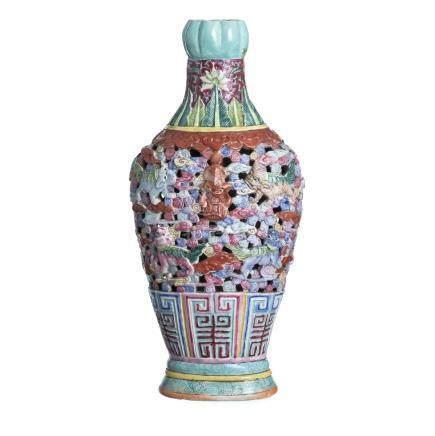 Ceramic chinese vase, Tongzhi