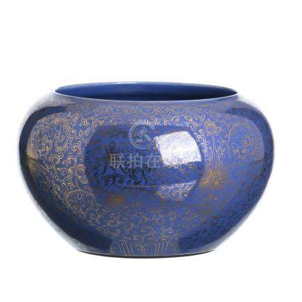Cachepot in chinese porcelain, Minguo
