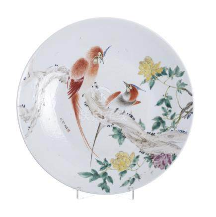 Large plate 'bids' in Chinese porcelain, Minguo