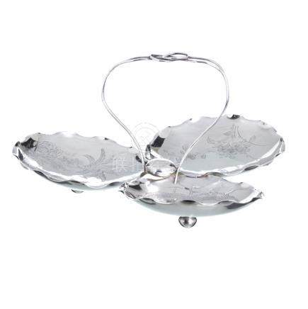 WING NAM - Chinese silver Fruit Bowl