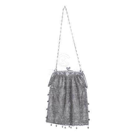 Chinese silver mesh purse