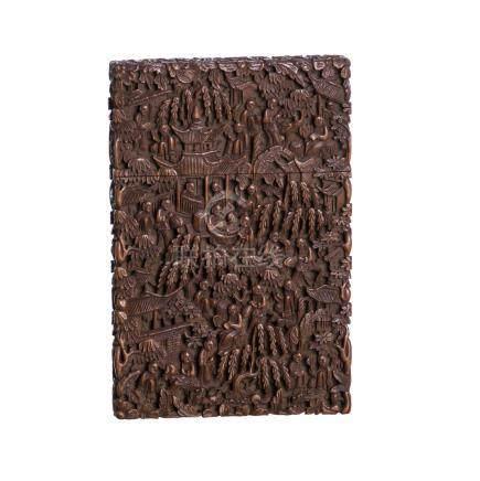 Sandalwood Chinese card box