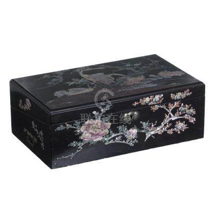 Office box in Chinese lacquer