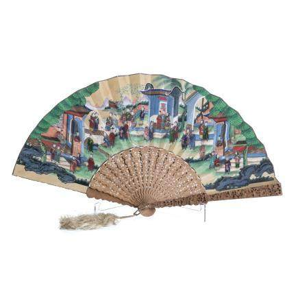 19th century Canton Chinese fan